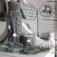Sweterkowe dekoracje zimowe